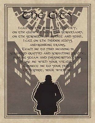 CITY PRAYER - POSTER  Wicca Pagan Witch Witchcraft Goth BOOK OF SHADOWS