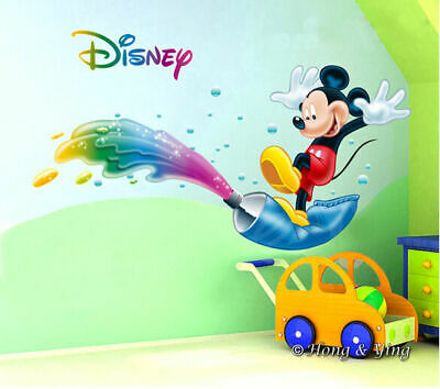 Disney Bright Mickey Mouse Wall Decor Vinyl Sticker Decal Nursery Kids Art Baby