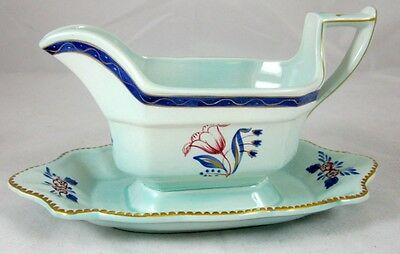 Adams GEORGIAN Gravy Boat with Attached Underplate GREAT CONDITION