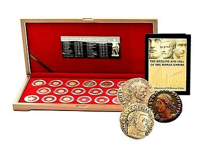 Roman Empire: 20 Emperors Bronze Coin Collection with Box,highest quality