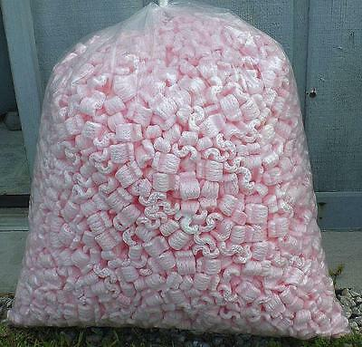 New 3.5 cu ft Pink Anti Static Packing Popcorn Peanuts Fast Free Shipping