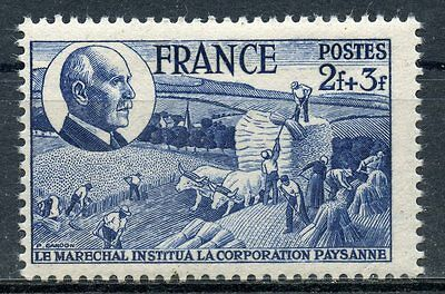 Stamp / Timbre France Neuf N°607 ** Charte Du Travail / Petain