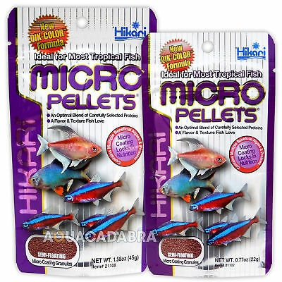 Hikari Micro Pellets Small Fish Tank Granule Food Great For Tropical Tetra Barbs