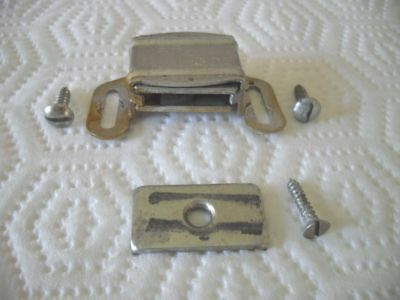 Vtg MAGNETIC Aluminum silver CABINET DOOR Catch Latch Holders Keepers VES 325