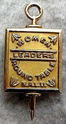 N.A.L.U. 10K Solid Gold Leaders Women Round Table Nat Asso of Life Underwriters