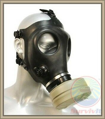 Israeli Adult Gas Mask w/ Filter & Drink Tube w/ Swiss Xtra Filter & Belgian Bag