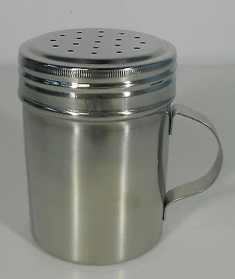 Stainless Steel Salt and Pepper Shaker/Dredge 285 ml capacity with Handle