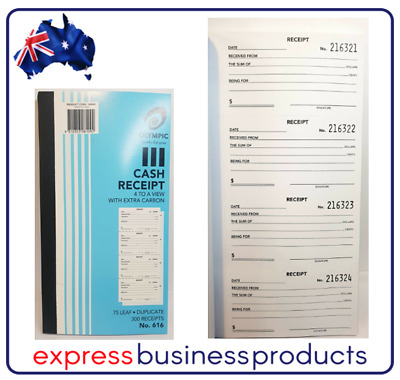 Olympic #616 Duplicate Cash Receipt Book – AO140885