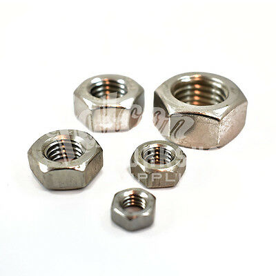 A2 Stainless Steel Metric Hexagon Full Nuts (Din934) M1 To M30 - Washers & Bolts