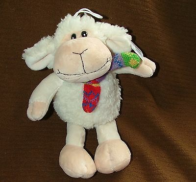 Cheeky Hanging Lamb Sheep Soft Toy With Colourful Scarf Love Friend Gift Present