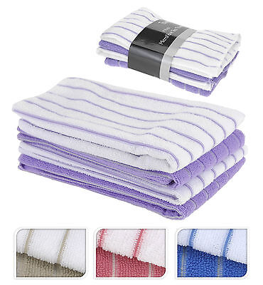 High Quality Microfibre Tea Towel Set Of 4 - Choice of 4 Colours