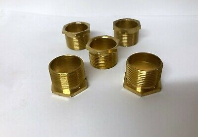 25mm Long Male Brass Bush Conduit (PACK OF 5)