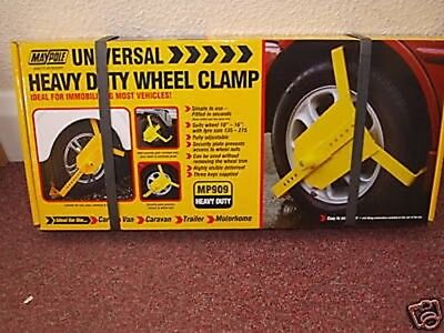 "Universal Heavy Duty Wheel Clamp Suits Wheel 10"" To 16"""