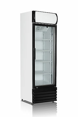 Single Door 540L Commercial Upright Glass Display Drink Fridge RRP $1849