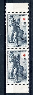 STAMP TIMBRE FRANCE NEUF N° 1049 ** EN PAIRE ISSUS DE CARNET / cote 60 €