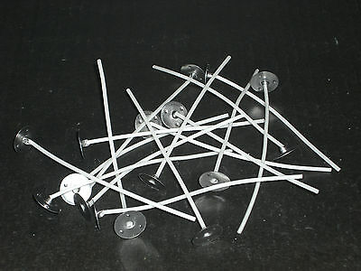20 Pre Waxed Wicks for Candle Making Votives / Small Candles (LX10). 80mm long