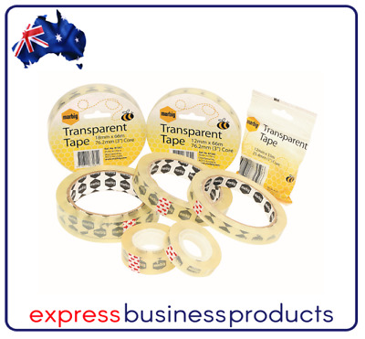6 Pack Marbig Office Sticky Tape 24mmx66m - AA87262