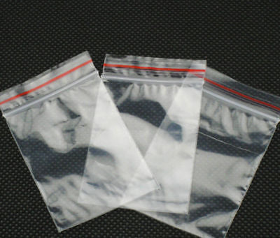 100 LARGE ZIP LOCK RESEALABLE PLASTIC BAGS 13x13 330x330mm reseal ziplock clear