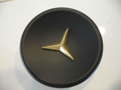 Vtg 50s NOS round Black Drawer Knobs Cabinet Door Pulls Gold Star Mercedes star