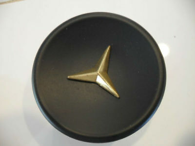 Vtg 50's NOS roundBlack Drawer Knobs Cabinet Door Pulls Gold Star Mercedes star