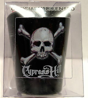 Cypress Hill Black Shot Glass Official Tour Collection Logo Barware Rap Skull