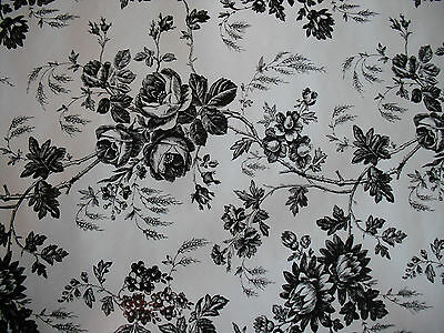 Black & White Rose Floral Shelf Liner Paper Crafts Shelving Contact Toile B & W