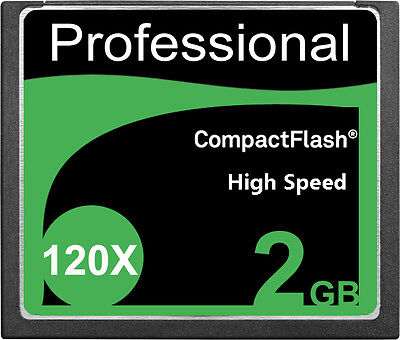 Lot of 5 New 2GB CF CompactFlash Compact Flash Memory Card 120X 18MB/S 2 GB G 2G