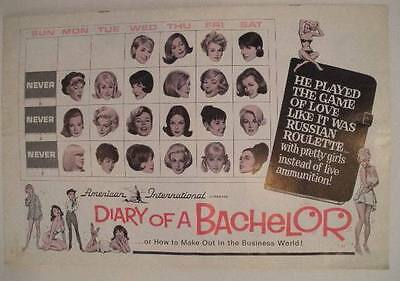 Diary of Bachelor Movie Exhibitor Campaign Manual (William Traylor, Dom DeLuise)