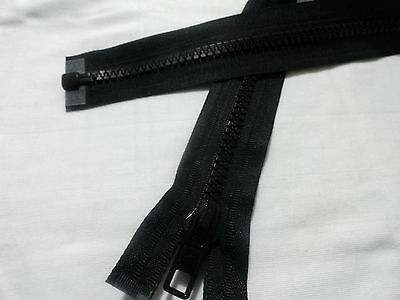 Black Chunky Plastic Open End Zip,Brand New Quality Zip, Choose Size