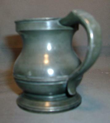 Small Antique Pewter Measure Tankard Mug 19th century 1800's