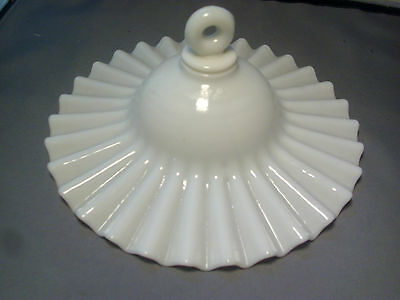 Antique 19th c. Milk Glass Smoke Shade for Hall Lantern Candle Sconce Sandwich