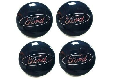 New! GENUINE FORD FOCUS RS mk2 ALLOY WHEEL CENTRE CAPS 2009 - 2009 SET OF 4!