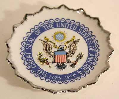 Seal Of The United States Of America 1776-1976 BiCentennial Tea Saucer Plate MIJ