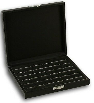 New 18 cufflink Wooden Jewelry Tray  Holder Box Case Display Case Storage