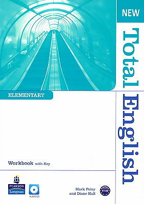 Longman NEW TOTAL ENGLISH Elementary Workbook with Key & Audio CD @BRAND NEW@