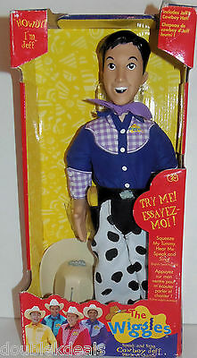 New The Wiggles Jeff Speak & Sing Cowboy Doll! 2004 Cold Spaghetti Western