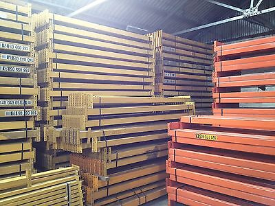 Used Warehouse Pallet Racking 4 bays 3m H x 900mm D 2.7m W x 2 Levels x 2 T
