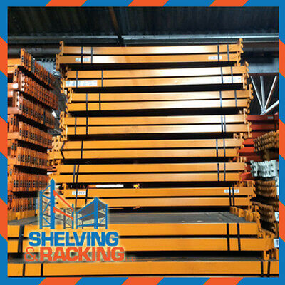 Used Warehouse Pallet Racking 8 bays 3m H x 900mm D 2.7m W x 2 Levels x 2 T