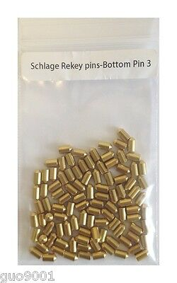 100 Pieces Schlage Rekey Bottom Pins #3 Locksmith Rekeying Pin key Kits