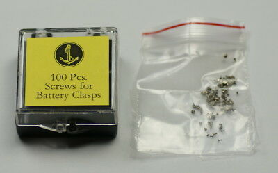 SCREWS FOR BATTERY CLASPS/CLAMPS covers quartz watch watches batteries repairs