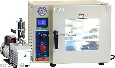 Ai 0.9 CF 5 Sided Vacuum Oven with EasyVac 9 cfm 2-Stage Pump & 2-Yr Warranty