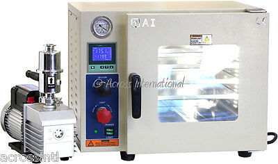 Ai UL/CSA Certified 0.9 CF Vacuum Oven w/ 110V/220V EasyVac 9 cfm 2-Stage Pump