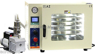 Ai 5-Sided UL/CSA Certified 1.9 CF Vacuum Oven w/ 110/220V 9 cfm 2-Stage Pump