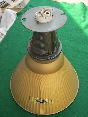 Vintage Industrial Mirrored Mercury Light Factory Steampunk  #831-12