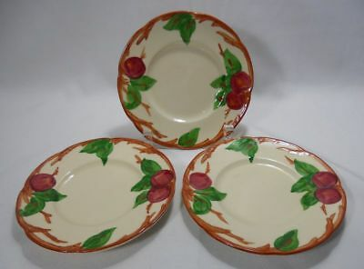 Franciscan Apple-Made in the US Set of 3 Bread and Butter Plates