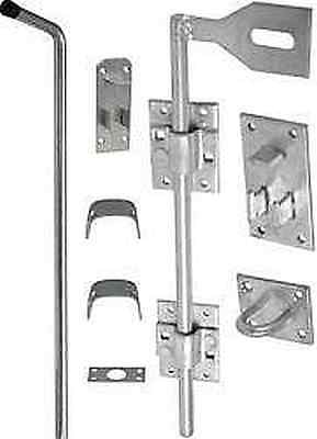 "18 Or 24"" Galvanised Surface Garage Door Drop Ground Field Gate Cane Bolt"