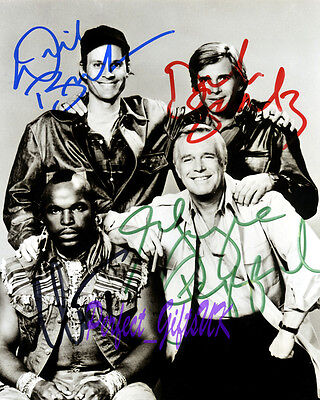 The A-Team Cast Signed Autographed Repro Photo Print N2 Peppard Benedict Mr.t