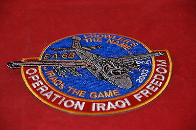 EA-6B 2003 PROWLER'S THE NAME IRAQ'S THE GAME  MILITARY PATCH NEW