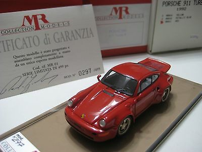 MR Collection Models (Italy) Red Porsche 911 Turbo S 1992 Resin 1:43 NIB