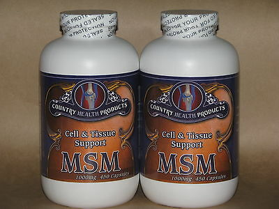 MSM 450 - 1000mg CAPSULES x2 - COUNTRY HEALTH PRODUCTS - FREE SHIPPING!